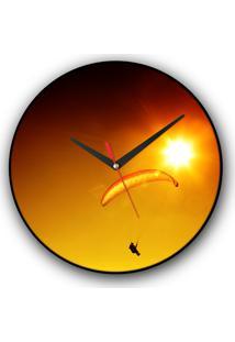 Relógio De Parede Colours Creative Photo Decor Decorativo, Criativo E Diferente - Parapente E Sol
