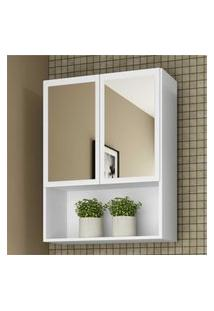 Armário Banheiro Com 2 Portas E Espelho Aspen Smart Plus Multimóveis Branco