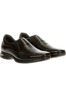 Sapato Social Democrata Air Stretch Spot - Masculino-Marrom