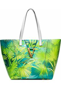 Versace Bolsa Tote Virtus Tropical - Verde