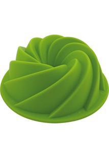 Forma De Silicone Verde Para Flan Pequeno