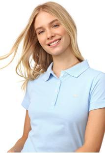 Camisa Polo Aeropostale Lisa Azul