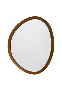 Espelho Decorativo Orgânico Freijó 50X64 Cm