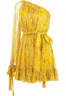 Alexis Vestido Ombro Único Edyta - Amarelo