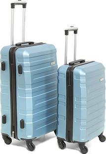 Conjunto Malas Viagem Yins Brasil Abs P/M Ys21052 - Masculino-Azul