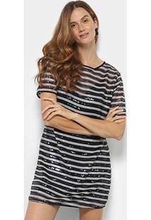 2980474b3 Vestido Colcci Listrado feminino