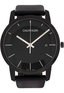 Relogio Calvin Klein City - Couro - U