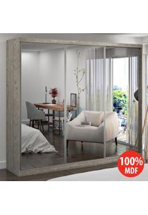 Guarda Roupa 3 Portas Com 3 Espelhos 100% Mdf 7320E3 Demolição - Foscarini