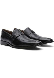 Sapato Social Couro Youth Class Trissê Masculino - Masculino-Preto