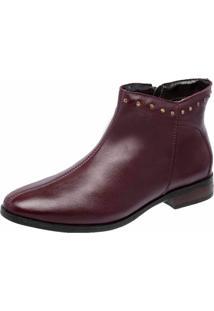 Bota Cano Cruto Dr Shoes Vinho