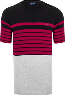 Camiseta Pierre Cardin Casual Preto