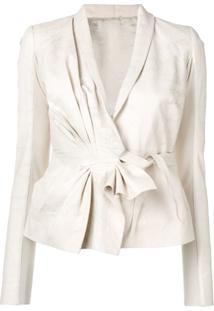 Rick Owens Gathered Detail Jacket - Branco