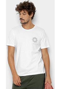 Camiseta Kohmar Lisa Meia Malha Masculina - Masculino-Branco