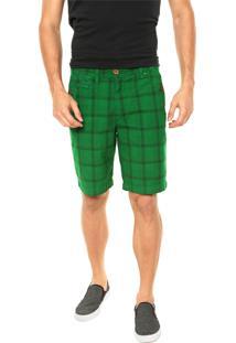 Bermuda Redley Xadrez Verde