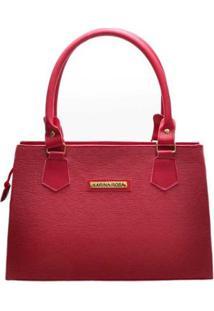 Bolsa Clássica D&R Shoes Feminina - Feminino-Vermelho