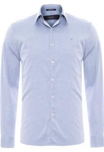 Camisa Masculina Skin Classic Straight French - Azul