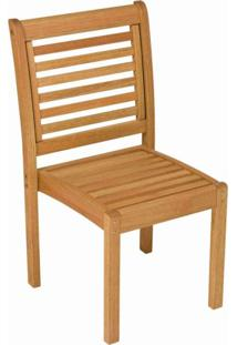 Cadeira Empilhável De Madeira Maciça Milano Ipanema Mestra Móveis Polisten Jatobá