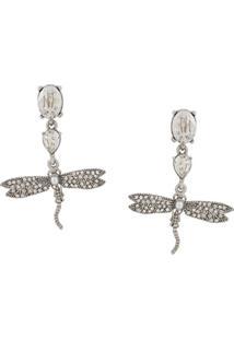 Oscar De La Renta Dragonfly Drop Earrings - Prateado