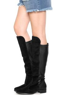 Bota Vizzano Over The Knee Preta