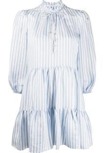 Veronica Beard Hawken Striped Dress - Azul