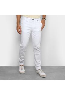 Calça De Sarja Skinny Cavalera Color Masculina - Masculino-Branco