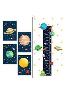 Adesivo De Parede Regua Sistema Solar E Placas Decorativas
