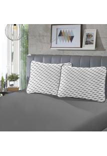 Fronha Para Travesseiro Rubi Pada 1 Peã§A Luna E Cinza - Sbx Tãªxtil - Cinza - Dafiti