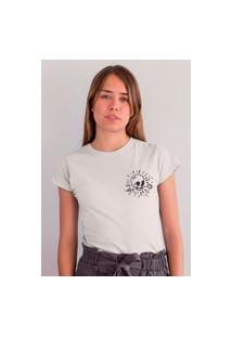 Camiseta Feminina Mirat Skull Gota Branca