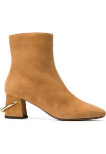 L'Autre Chose Ankle Boot De Camurça - Marrom