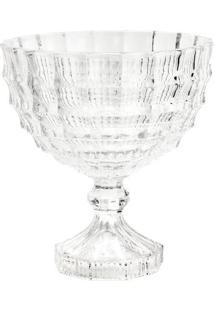 Saladeira Com Pé Mauricius- Cristal- 24,5Xø23Cm-Rojemac
