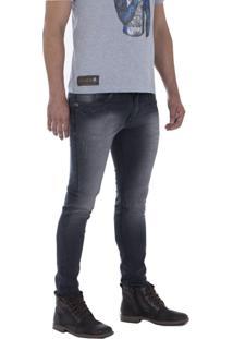 Calça Jeans Alado Store Skinny Cinza
