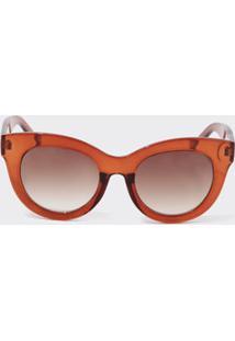 acb91ae3e0cb6 Marisa. Óculos De Sol De Sol Feminino Marrom Gateado Marisa