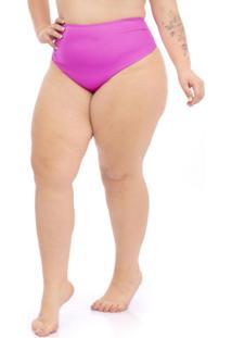 Calcinha Fio Hot Pant Plus Size Rosa