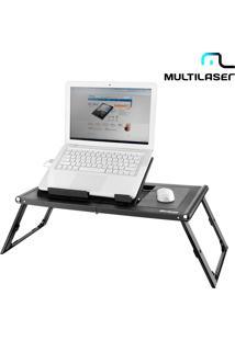 Mesa Portátil Para Notebook Multilaser Com 2 Coolers, Mousepad, Dobrável E Com Pés Ajustáveis - Ac131
