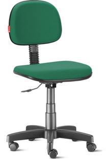 Cadeira Secretária Giratória Crepe Verde Bandeira