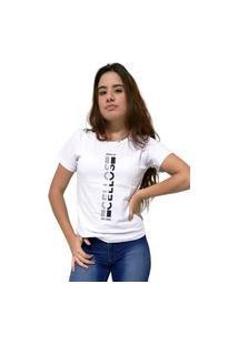 Camiseta Feminina Cellos Vertical Ii Premium Branco