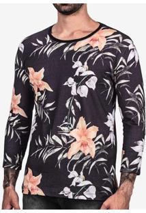 Camiseta 3/4 Floral Full Print 102350