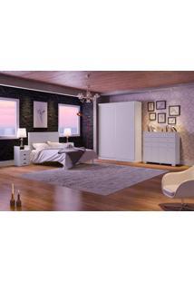 Dormitório Casal Angélica Branco Madeirado Robel Móveis