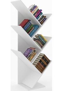 Estante Para Livros Diagonal Spine Siena Móveis Branco