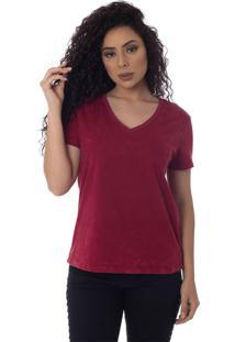T-Shirts Daniela Cristina Gola V Lavada 10272 26 Roxo