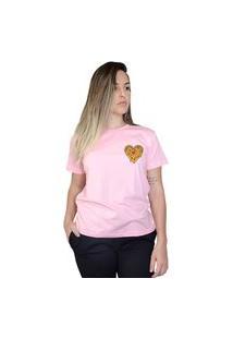 Camiseta Boutique Judith Love Pizza Rosa