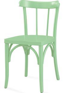 Cadeira De Madeira Moderna Justine Laca Verde Sálvia - 43X47,5X78,5 Cm