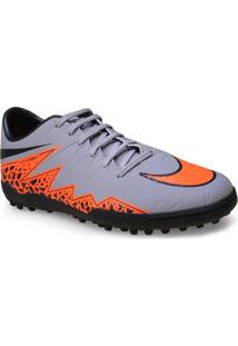 Tenis Masc Nike 749899-080 Hypervenom Phelon Ii Tf Cinza/Laranja