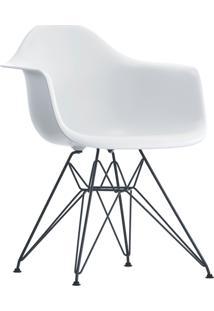 Poltrona Eames Dar Com Braã§O Or Design Branco - Branco - Dafiti