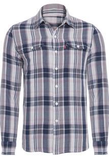 Camisa Masculina Manga Longa - Cinza