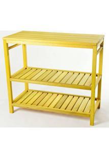 Aparador Troia Estrutura Amarelo 75Cm - 61440 - Sun House