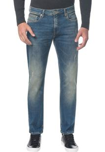 Calça Jeans Five Pockets Ckj 025 Slim Straight - Azul Médio - 36