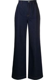 Dolce & Gabbana Wide Leg Jeans - Azul