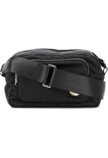 Ps Paul Smith Bolsa Transversal Com Zíper Duplo - Preto