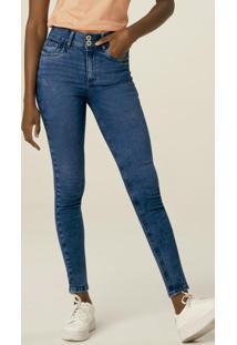 Calça Azul Escuro Skinny Curves Jeans